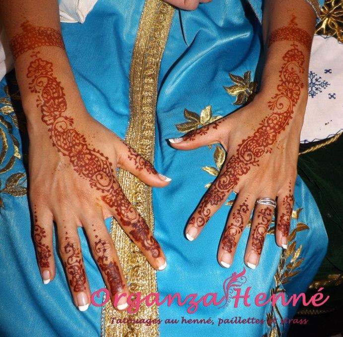 Organza henn tatouage henn paillettes et strass dans le 95 - Salon prestige organza ...