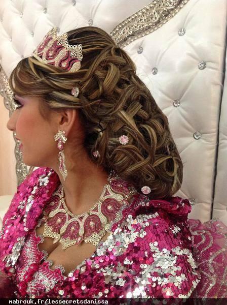 Coiffure chignon mariage libanais
